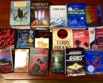 Our book sale and B&N haul.