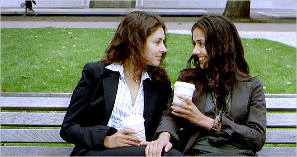 Lisa Ray as Tala and Sheetal Sheth as Leyla.