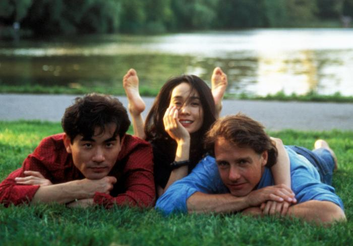 Winston Chao, May Chin, and Mitchell Lichtenstein in The Wedding Banquet.