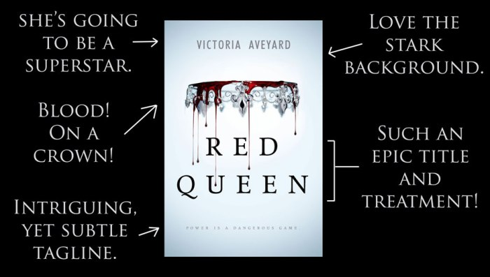 Breakdown of Red Queen's cover by RT Book Reviews.
