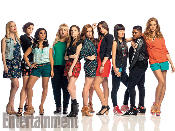 The main cast of Pitch Perfect 2.Great female representation.