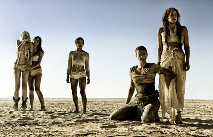 """This photo provided by Warner Bros. Pictures shows, from left, Abbey Lee as The Dag, Courtney Eaton as Cheedo the Fragile, Zoe Kravitz as Toast the Knowing, Charlize Theron as Imperator Furiosa and Riley Keough as Capable, in Warner Bros. Picturesí and Village Roadshow Picturesí action adventure film, ìMad Max:Fury Road,"""" a Warner Bros. Pictures release. (Jasin Boland/Warner Bros. Pictures via AP) ORG XMIT: CAET486"""