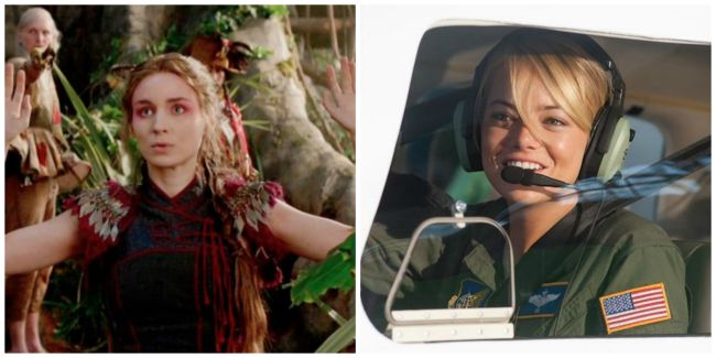 Rooney Mara as Tiger Lily in Pan.Emma Stone as Allison Ng in Aloha.